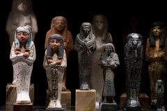 Antikt egyptiskt statyettslut upp Royaltyfria Bilder