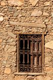 antikt färgrikt fönster Royaltyfri Foto