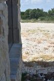 antikt färgrikt fönster Arkivfoto