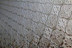 Antikt fönsterexponeringsglas arkivfoto