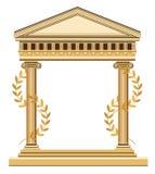 antikt grekiskt tempel Arkivbild