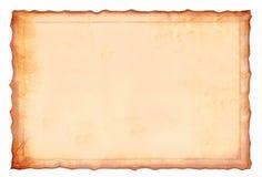 Antikt gulaktigt pergamentpapper royaltyfria foton