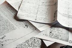 antikt handskriftfärgpulver Arkivbilder