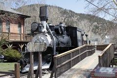 Antikt järnvägdrev i Colorado Royaltyfria Bilder