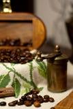antikt kaffe mal Arkivbilder