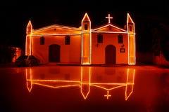 Antikt kapell i Ilha Bela - Brasilien royaltyfri bild