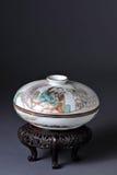 antikt kinesiskt porslin Fotografering för Bildbyråer
