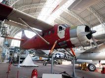 Antikt militärt flygplanmuseum Bryssel Belgien Arkivbild