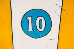 Antikt nummer 10 Fotografering för Bildbyråer