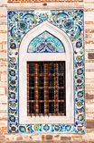 Antikt ottomanstilfönster Royaltyfria Foton