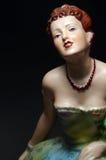 Antikt porslindiagram kvinnor Royaltyfria Bilder
