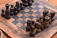 Antikt schack royaltyfria bilder