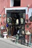 Antikt shoppa Positano arkivbilder