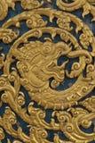 Antikt thailändskt sniden modell för traditionell konst trä Royaltyfri Foto