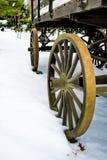 antikt vagnhjul Royaltyfri Foto