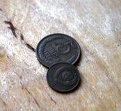 Antikvariskt mynt av Ryssland som är gammalt, 1979 5 kopeks Arkivfoto