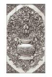 Antikvitet inristad silverbakgrund Fotografering för Bildbyråer