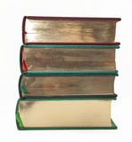 Antikvitetböcker med guldsnittet Royaltyfria Foton