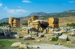 Antikviteten återstår i Pamukkale, Turkiet Royaltyfri Fotografi