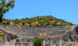 Antikviteten anmärker och strukturer i den Ephesus närbilden, Selcuk, Turkiet royaltyfri bild