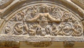 Antikviteten anmärker och strukturer i den Ephesus närbilden, Selcuk, Turkiet royaltyfria bilder