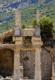 Antikviteten anmärker och strukturer i den Ephesus närbilden, Selcuk, Turkiet arkivfoto