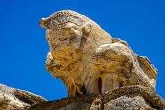 Antikviteten anmärker och strukturer i den Ephesus närbilden, Selcuk, Turkiet royaltyfria foton