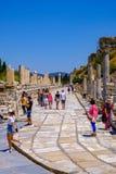 Antikviteten anmärker och strukturer i den Ephesus närbilden, Selcuk, Turkiet royaltyfri fotografi