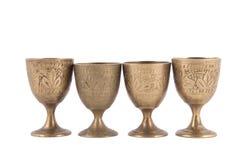 Antikviteten belägger med metall exponeringsglas royaltyfria bilder