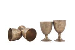 Antikviteten belägger med metall exponeringsglas royaltyfri foto