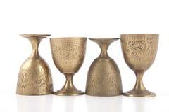 Antikviteten belägger med metall exponeringsglas royaltyfri bild