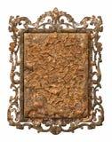Antikviteten belägger med metall inramar arkivbilder