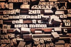 antikviteten blockerar boktryckprinting arkivfoton