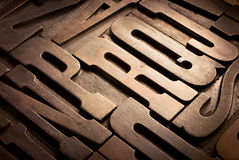 antikviteten blockerar typografisk arkivbild