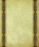 antikviteten borders paper scrollwork för guld royaltyfri foto