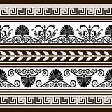 antikviteten borders vektorn för elementseten stock illustrationer