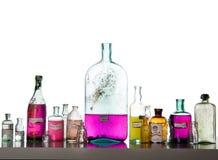 antikviteten bottles magiska pass royaltyfri bild