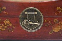 Antikviteten boxas skåp royaltyfri foto