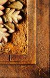 antikviteten details ramen arkivbilder