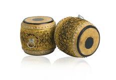 antikviteten drums thai instrumentmusik arkivfoton