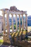 Antikviteten fördärvar av Roman Forum i Rome, Italien royaltyfria foton