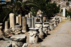 Antikviteten fördärvar den Kos öslotten arkivfoto
