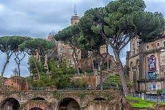 Antikviteten fördärvar i Rome, Italien arkivbild