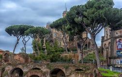 Antikviteten fördärvar i Rome, Italien royaltyfria bilder