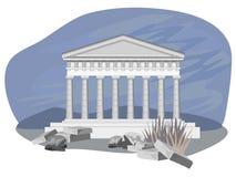 antikviteten fördärvar tempelet Arkivfoto