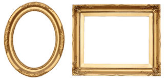 antikviteten inramniner guld Arkivfoto