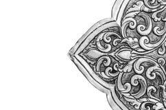 Antikviteten inristad silver, kan användas som garnering Thailand för royaltyfri bild