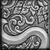 Antikviteten inristad silver, kan användas som garnering Thailand för royaltyfria foton