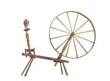 antikviteten isolerade det stora roteringshjulet Fotografering för Bildbyråer
