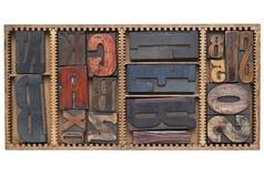 antikviteten letters nummer Royaltyfri Foto